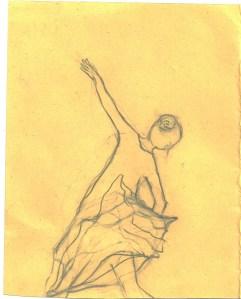dancer with shell skirt